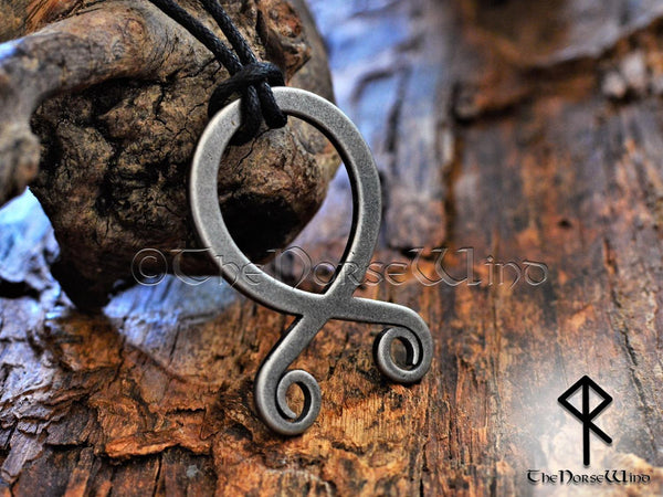 Troll Cross Viking Necklace, Norse Trollkors Odal / Othala Rune Protection Amulet - TheNorseWind