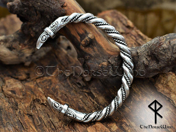 Viking Bracelet Hugin and Munin Ravens - TheNorseWind
