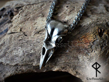 Load image into Gallery viewer, Viking Raven Skull Necklace - TheNorseWind