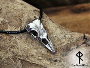Viking Raven Skull Necklace - TheNorseWind