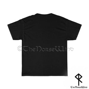 Berserker Viking T-Shirt < Valhalla Awaits Me > Celtic Dragon Tee - TheNorseWind