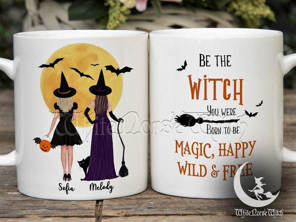Personalized Witch Best Friends Mug Halloween Witchy Besties Mug - TheNorseWind