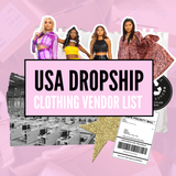 USA Dropship Clothing Vendor List VERIFIED