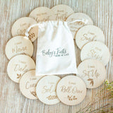 """Wooden """"Baby's First"""" Milestone Markers"""
