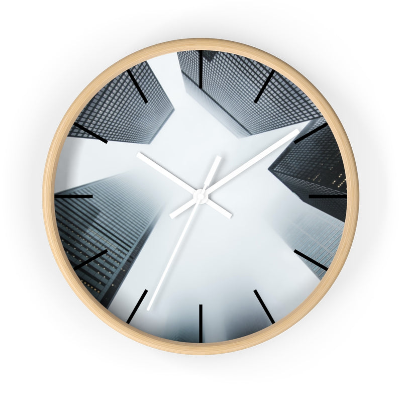 Cloudy City Wall clock - Shopoya