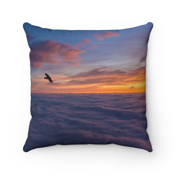 Above Clouds Throw Pillow - Shopoya