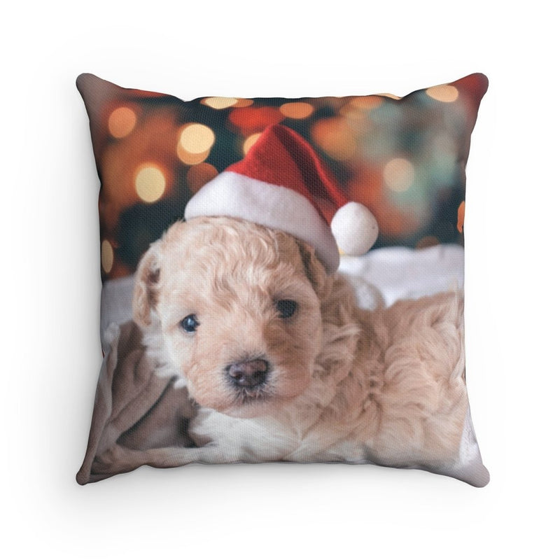 Xmas Puppy Throw Pillow - Shopoya