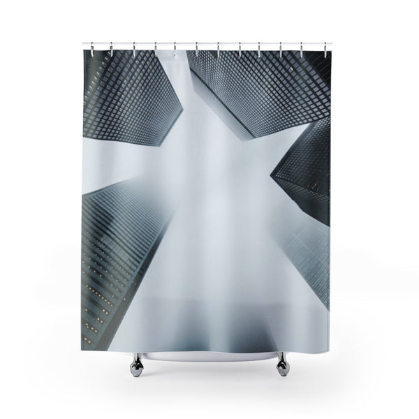 Cloudy City Shower Curtains - Shopoya