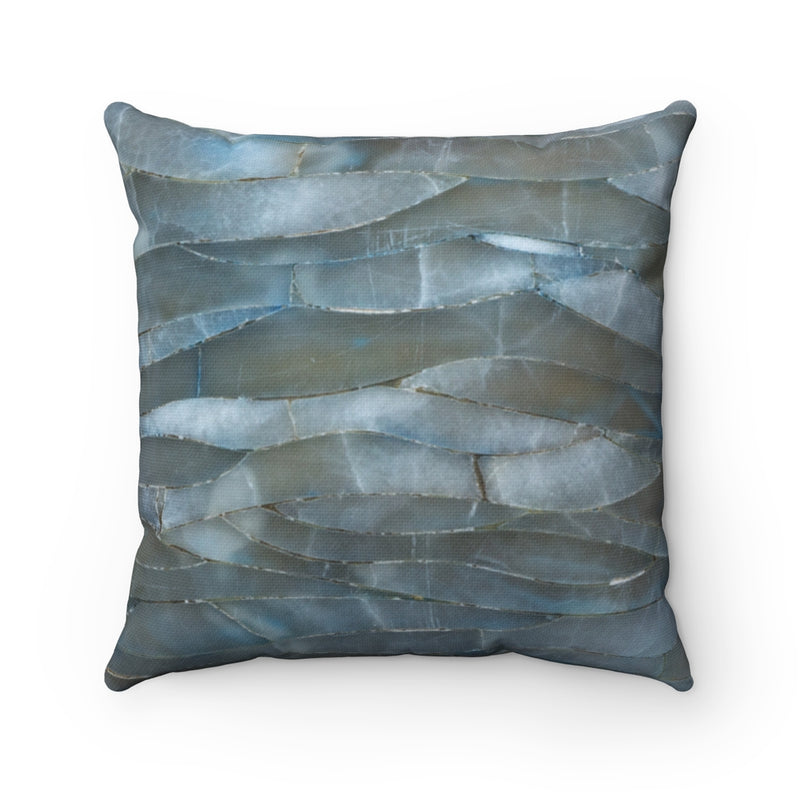 Blue Quartz Mineral Stone Throw Pillow - Shopoya