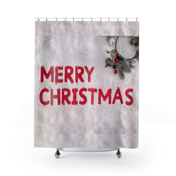 Merry Christmas Shower Curtain - Shopoya