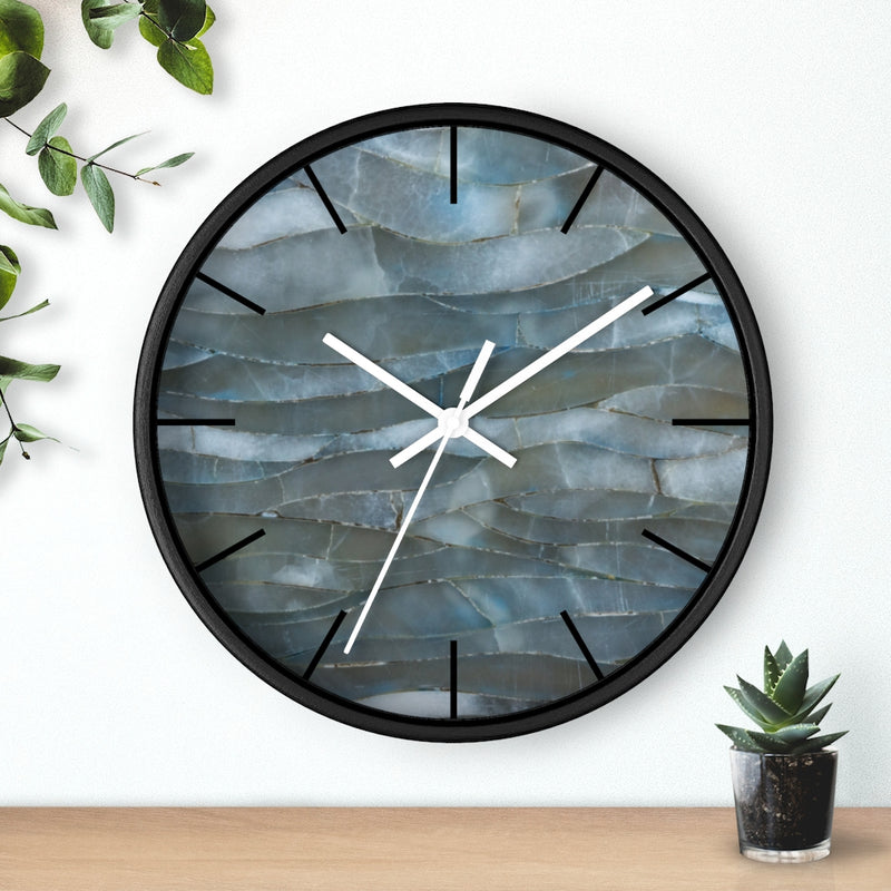Blue Quartz Mineral Stone Wall clock - Shopoya