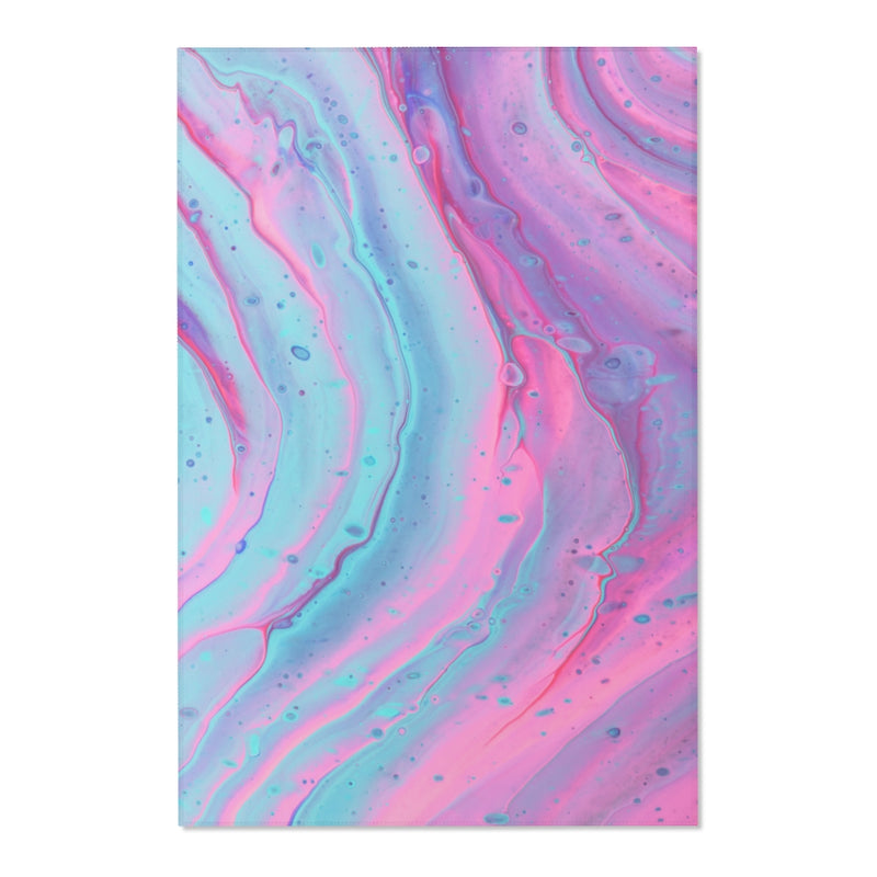 Pink and Blue Swirls Area Rug - Shopoya