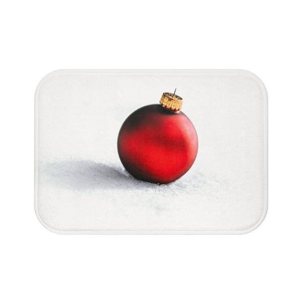 Red Ornament Bath Mat - Shopoya