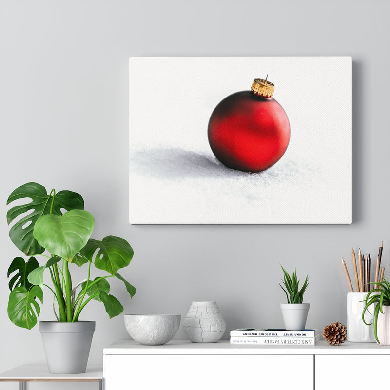 Red Ornament Canvas Print - Shopoya