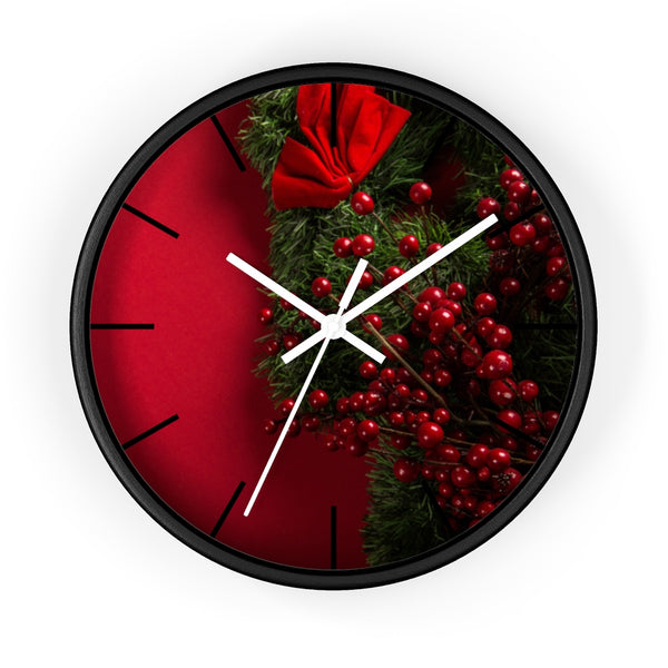 Red Xmas Wall clock - Shopoya