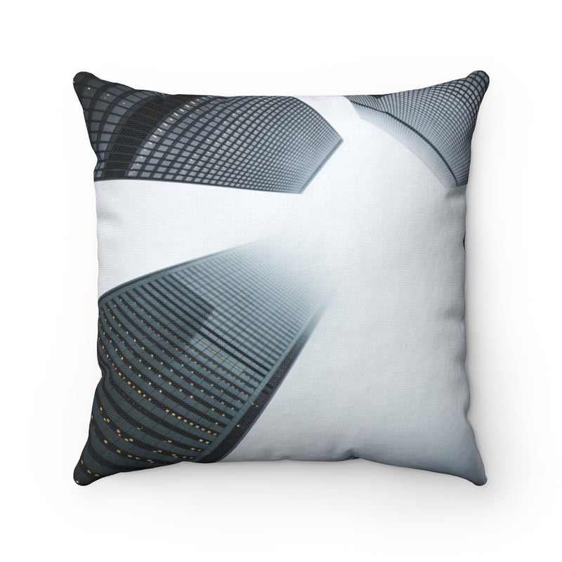 Cloudy City Throw Pillow - Shopoya