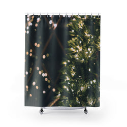 Xmas Lights Shower Curtain - Shopoya