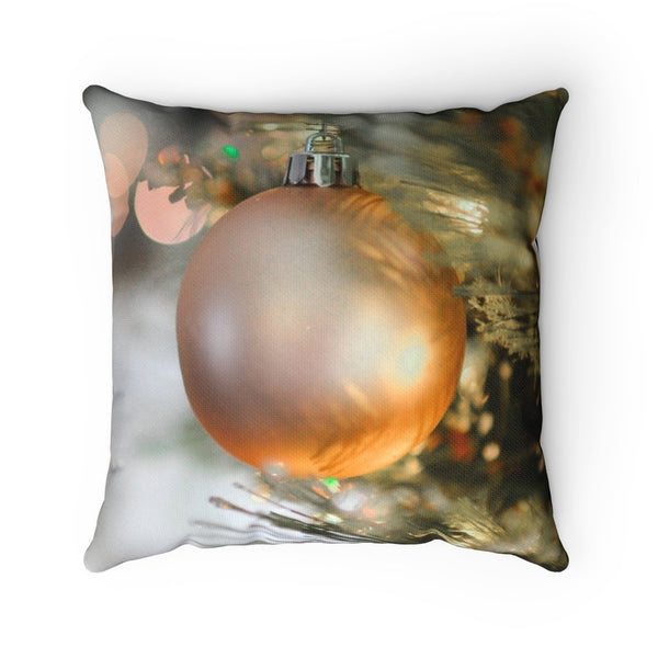 Golden Ornament Throw Pillow - Shopoya