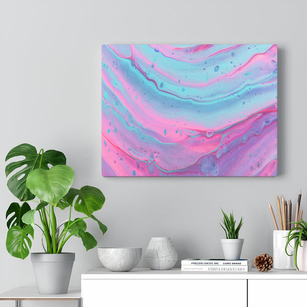 Pink and Blue Swirls Canvas Print