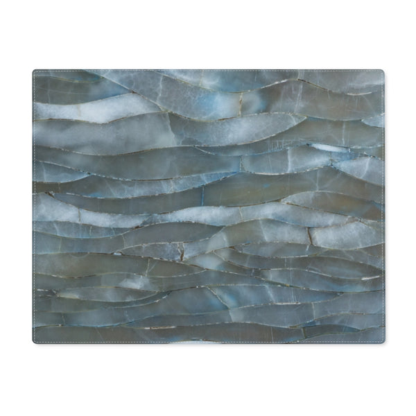 Blue Quartz Mineral Stone Placemat - Shopoya