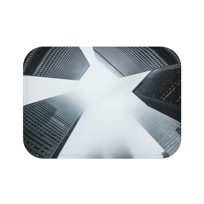 Cloudy City Bath Mat - Shopoya