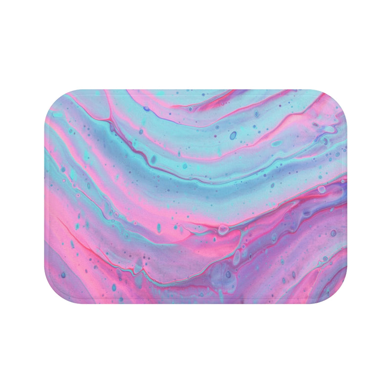 Pink and Blue Swirls Bath Mat - Shopoya