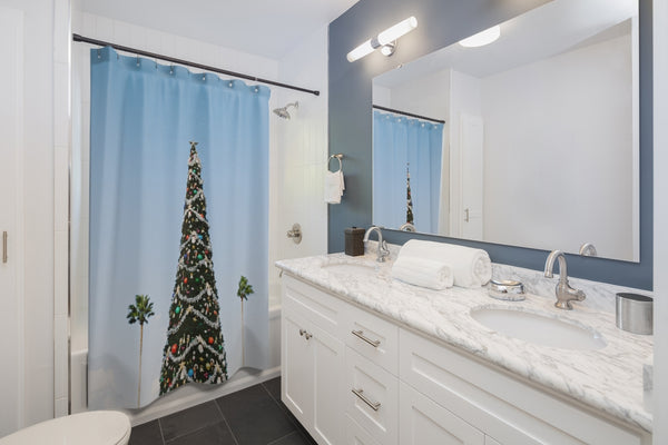 L.A. Xmas Shower Curtain - Shopoya