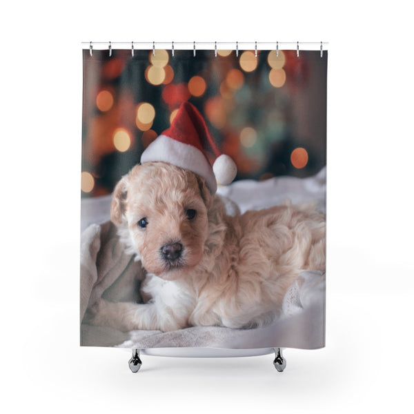 Xmas Puppy Shower Curtain - Shopoya