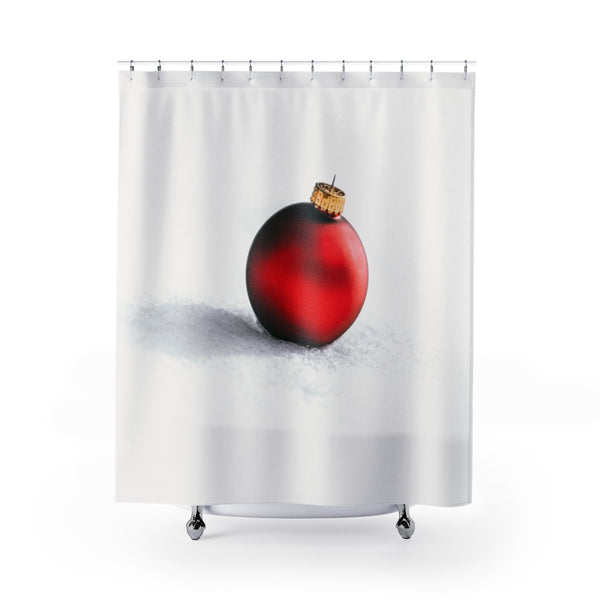 Red Ornament Shower Curtain - Shopoya