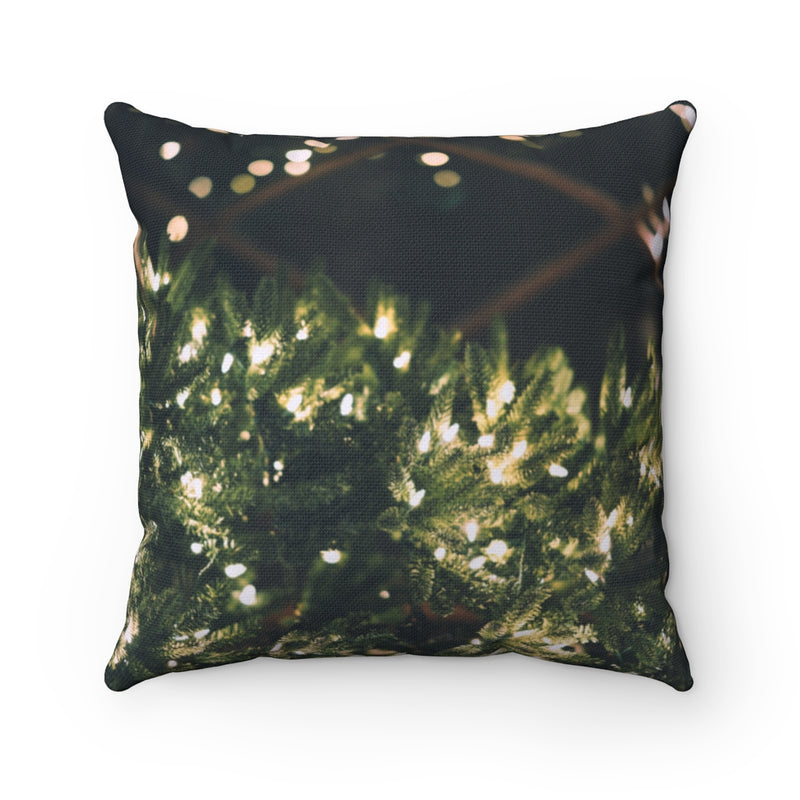 Xmas Lights Throw Pillow - Shopoya