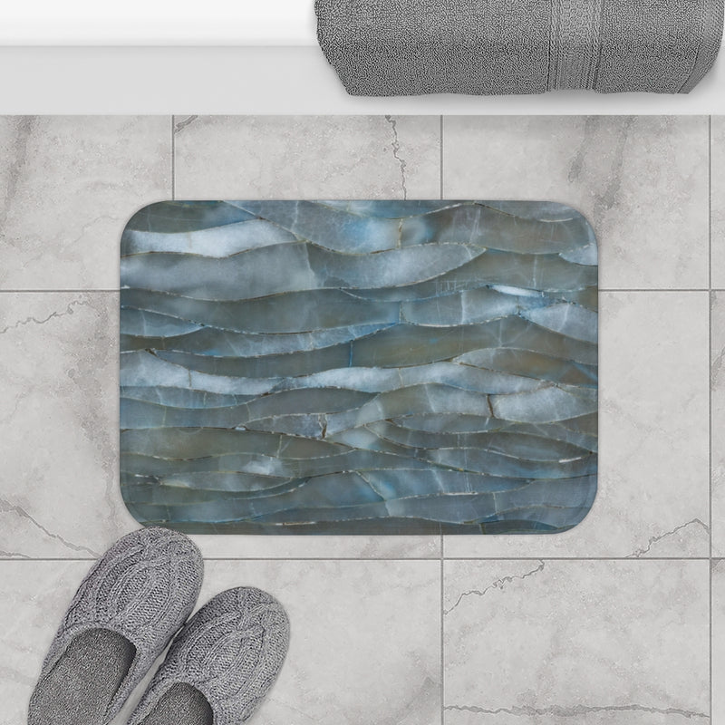 Blue Quartz Mineral Stone Bath Mat - Shopoya