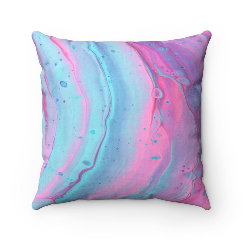 Pink and Blue Swirls Throw Pillow - Shopoya
