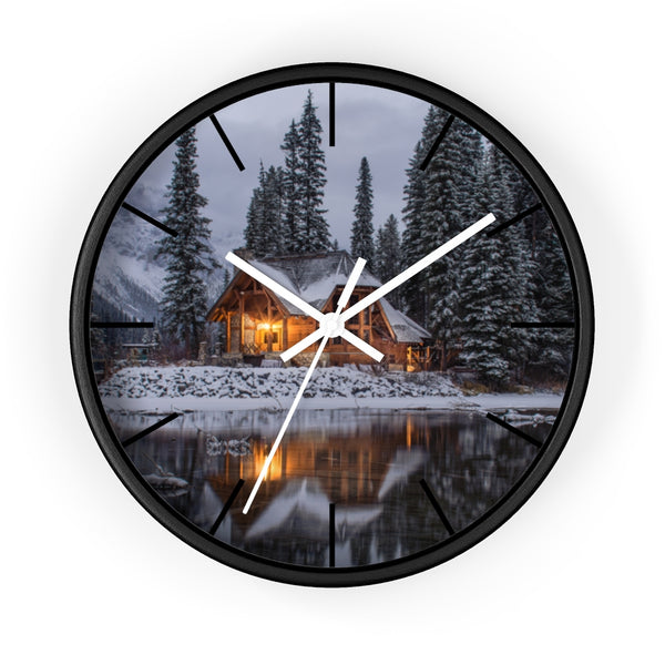 Snowy Cabin Wall clock - Shopoya