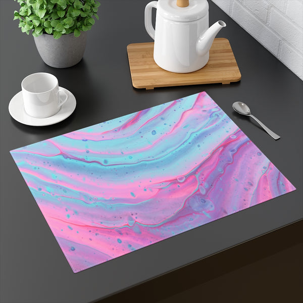 Pink and Blue Swirls Placemat