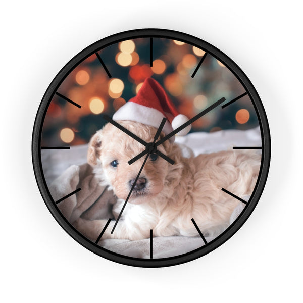 Xmas Puppy Wall clock - Shopoya