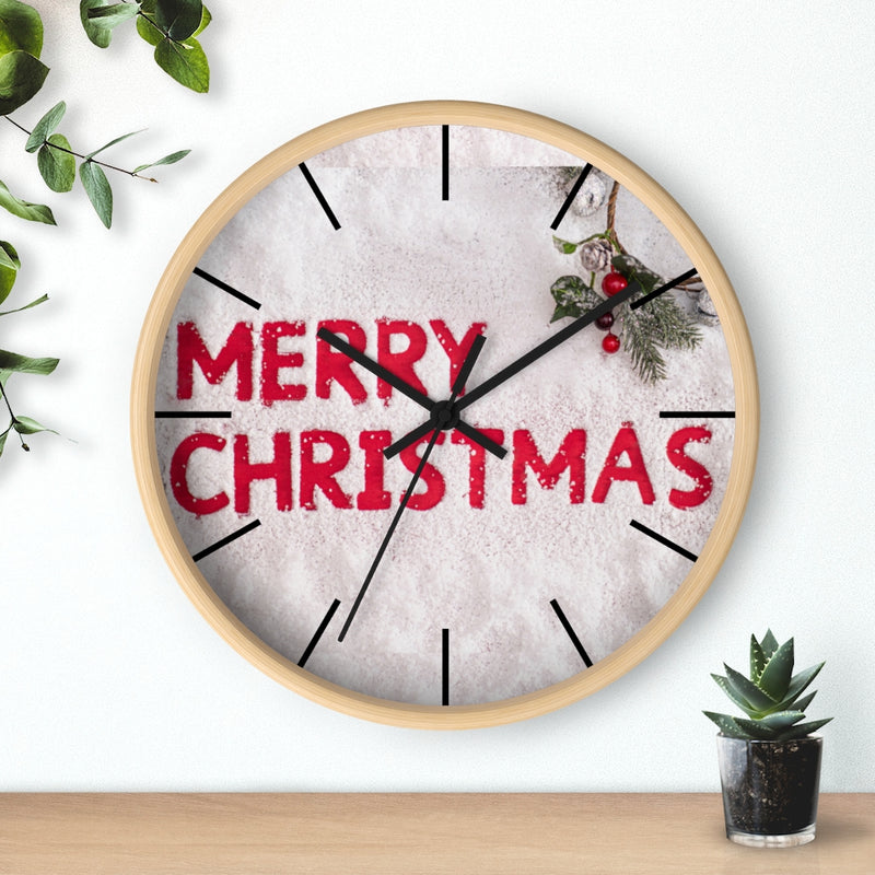 Merry Christmas Wall clock - Shopoya