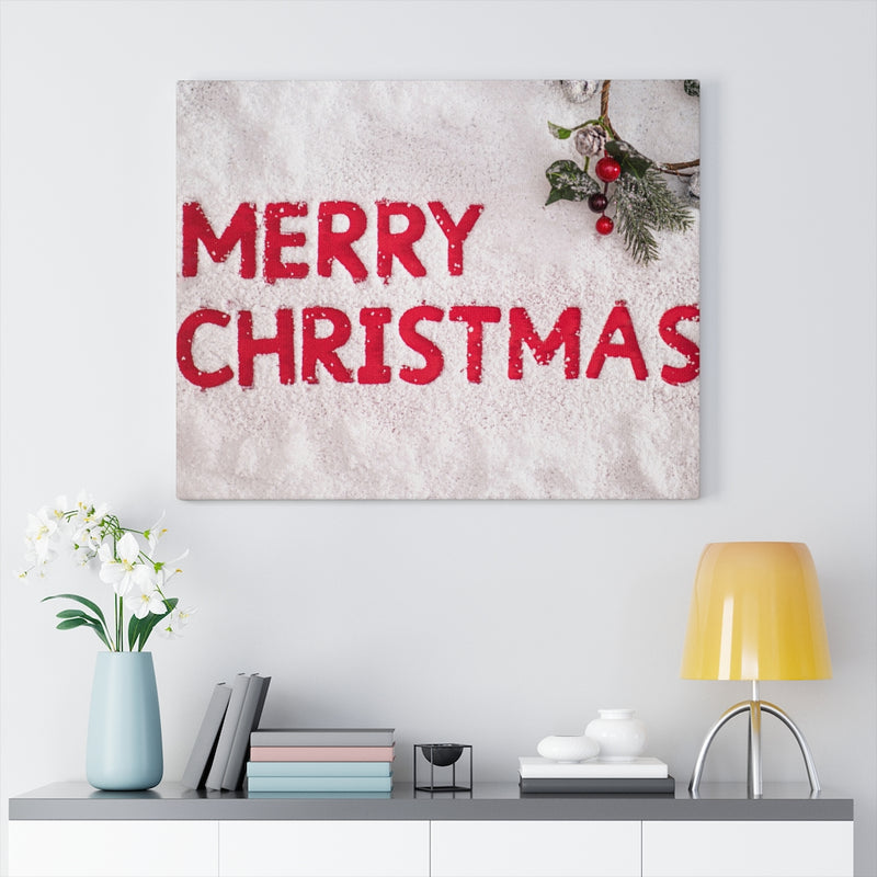 Merry Christmas Canvas Print - Shopoya