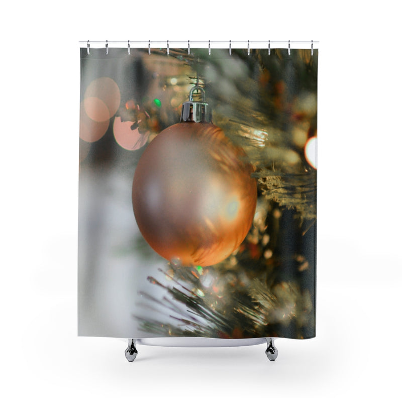 Golden Ornament Shower Curtain - Shopoya