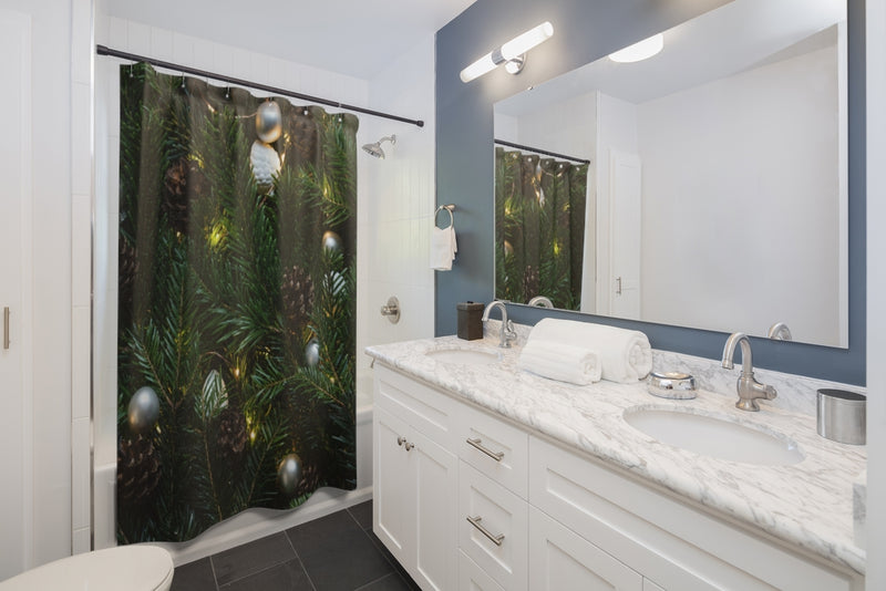 Xmas Tree Shower Curtain - Shopoya