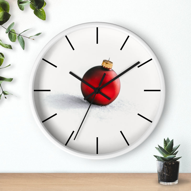 Red Ornament Wall clock - Shopoya