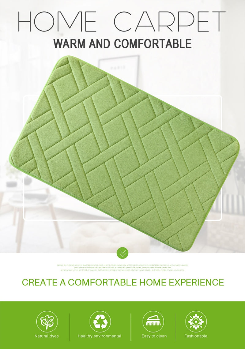 Shopoya Quilted European Bath Mat - Shopoya
