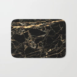 Shopoya Black Marble Bath Mat - Shopoya