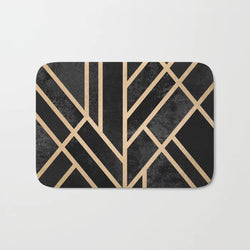Shopoya Abstract Deco Bath Mat - Shopoya