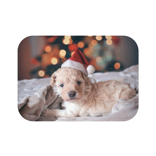 Xmas Puppy Bath Mat - Shopoya