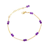 Amethyst Sophia Bracelet in 14ct Yellow or Rose Gold Fill