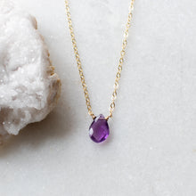 Load image into Gallery viewer, Amethyst Solo Necklace
