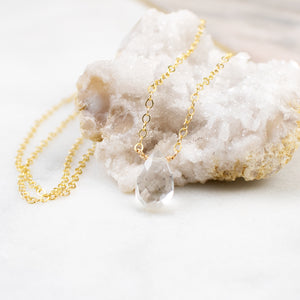 Natural Crystal Solo Necklace