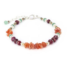 Load image into Gallery viewer, Handmade boho style gemstone bracelet