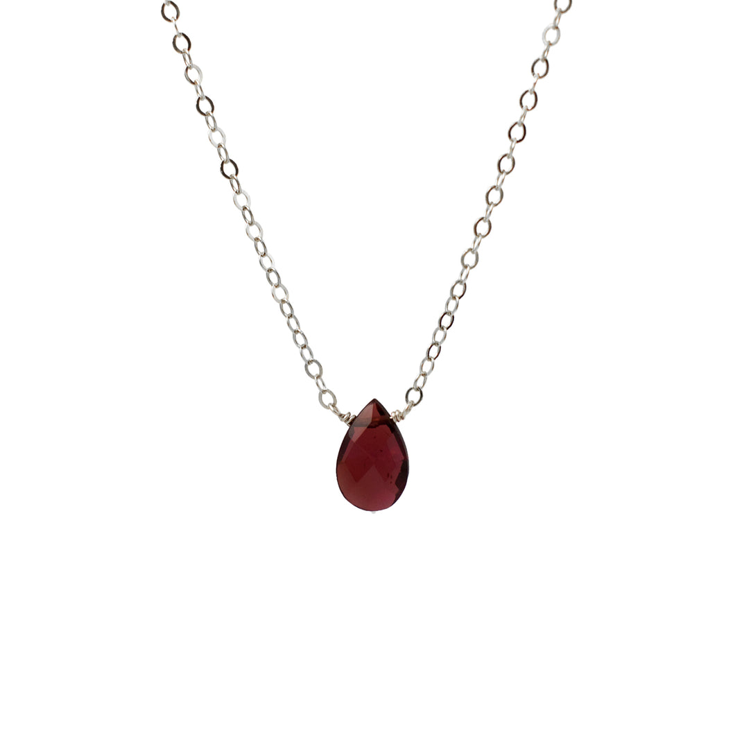Garnet Solo Necklace