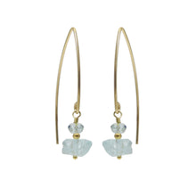 Load image into Gallery viewer, Raw aquamarine gemstone earrings